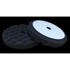 Полировальный круг FITTER,черный-рифленый финишный с отверстием на липучке D-150 мм